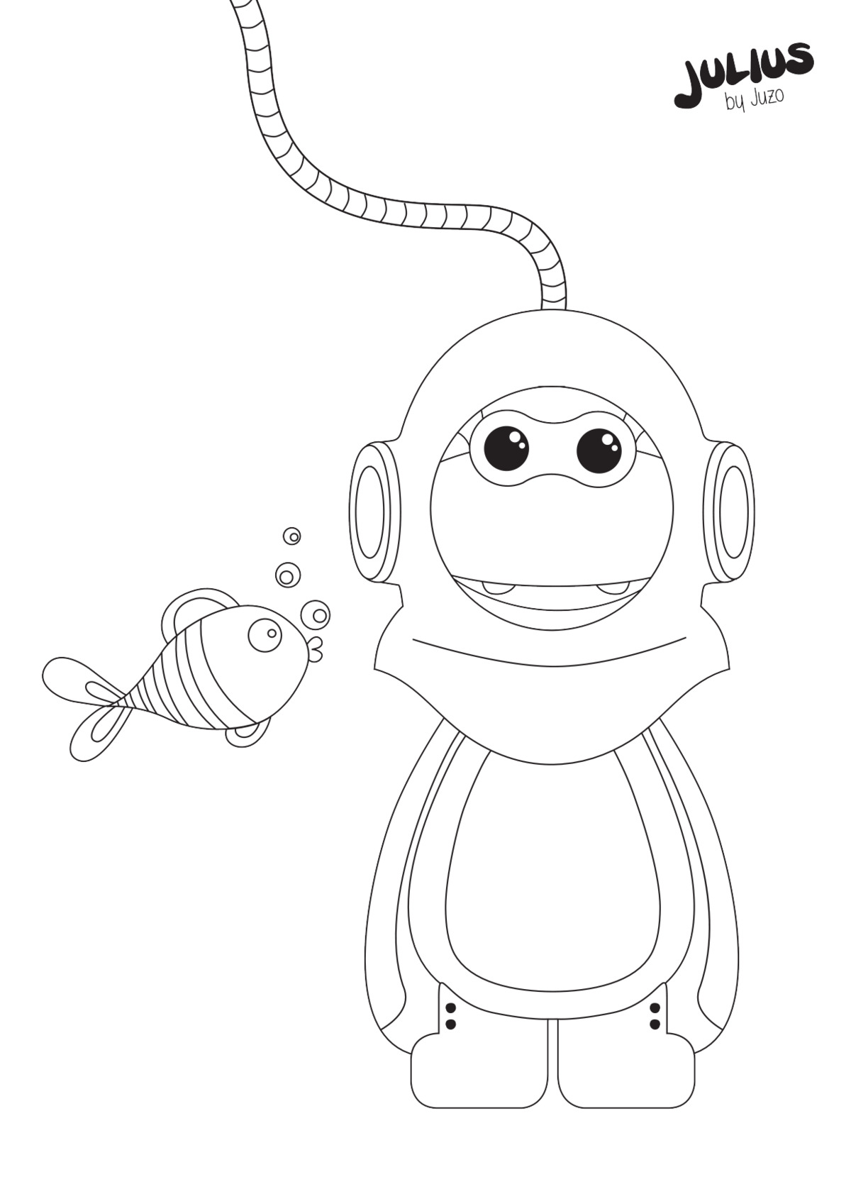 Diving suit - colouring pages